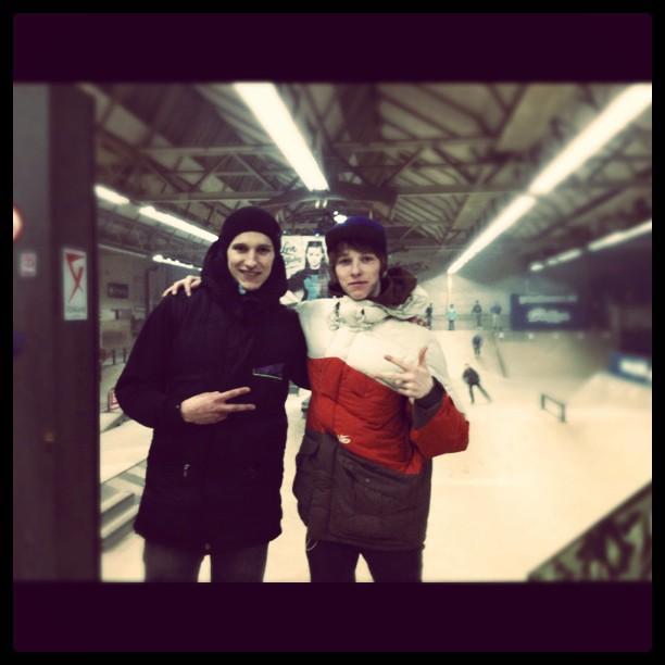 Спартак Алемасов и Кирилл Галушко в скейтпарке Area-51 на Winterclash 2012