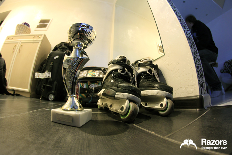 Brian's setup and trophy