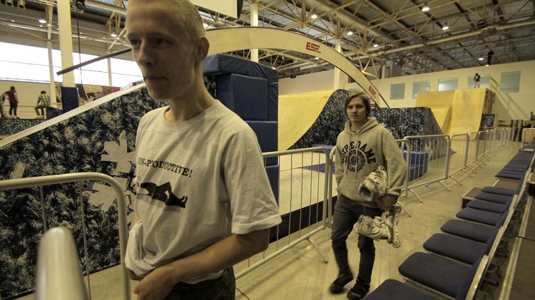Дмитрий Типикин и Коля Лошаков перед квалификацией
